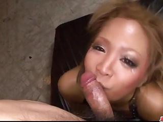 Sexy milf, Riku Hinano, blows and fucks in extreme ways